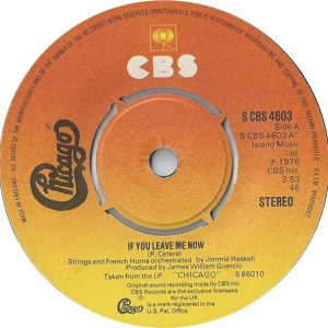 """Chicago (2) - If You Leave Me Now (7"""", Single, Kno)"""