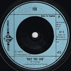 """Fox (3) - Only You Can (7"""", Single) (Good (G))"""
