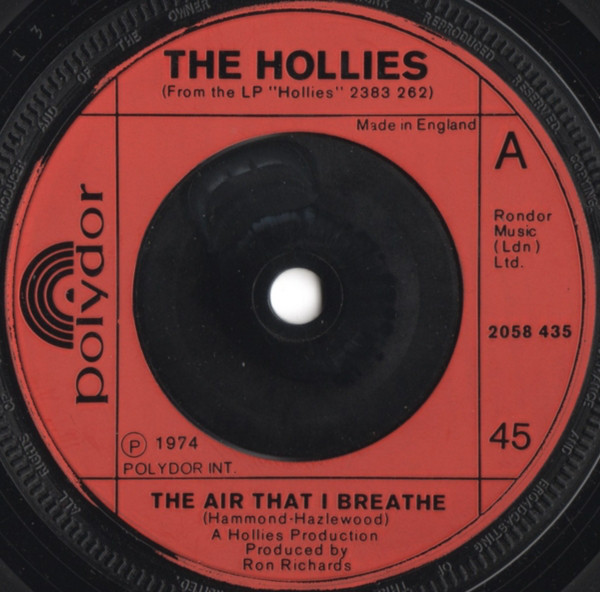 """The Hollies - The Air That I Breathe (7"""", Single)"""