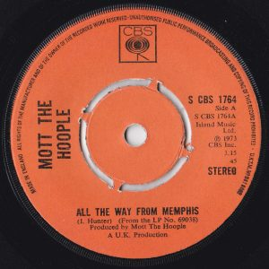 """Mott The Hoople - All The Way From Memphis (7"""", Single, Kno)"""